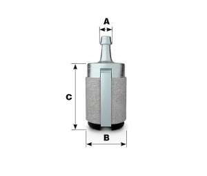 Universal fuel filter felt type