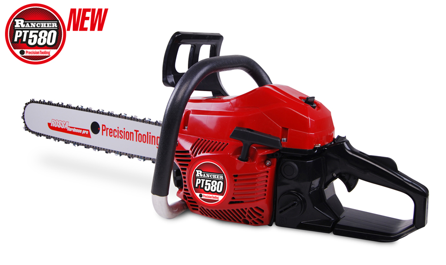 Chainsaw Rancher PT580 Chainsaw fully assembled with high quality Precision Tooling spare parts.